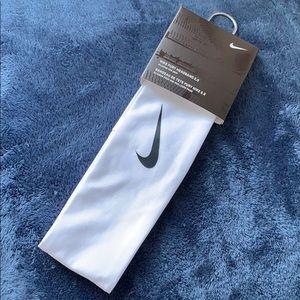 White Nike Headband.